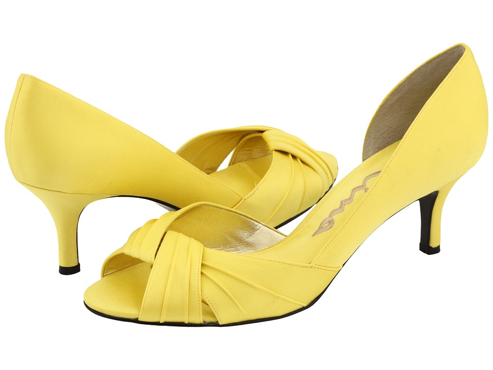Nina - Culver (Canary Yellow Satin) Women's Bridal Shoes