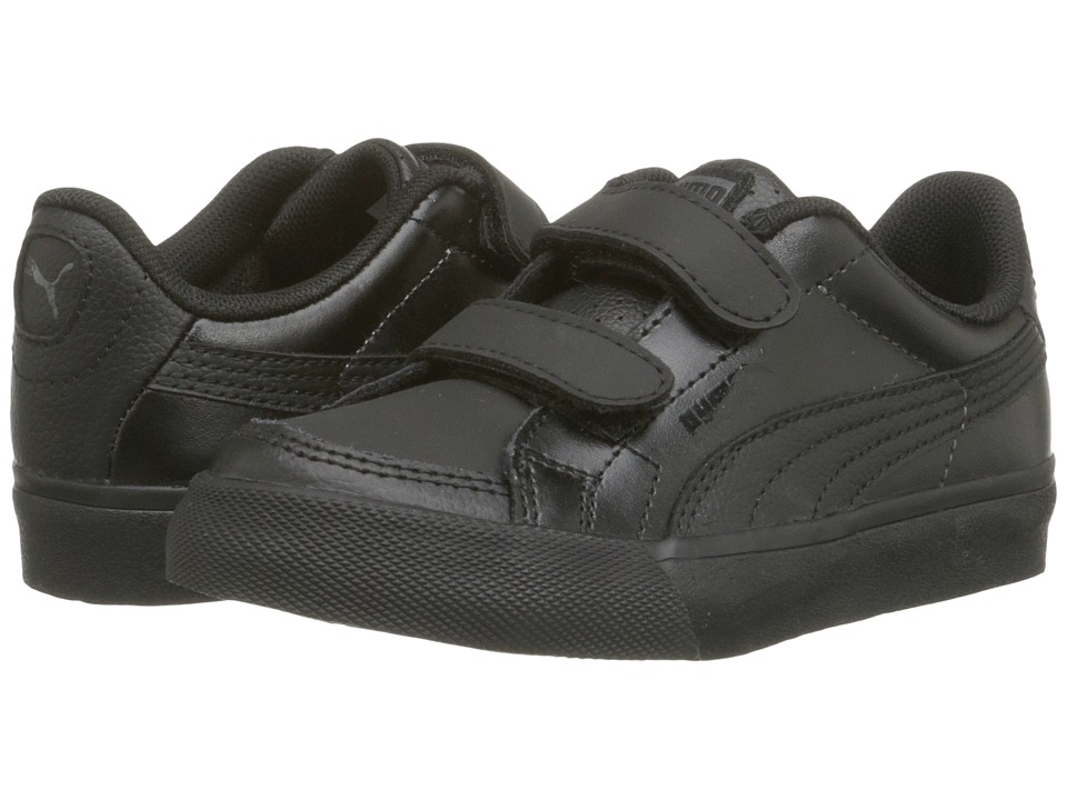 Puma Kids - Court Point V (Toddler/Little Kid/Big Kid) (Black/Black/Dark Shadow) Kids Shoes