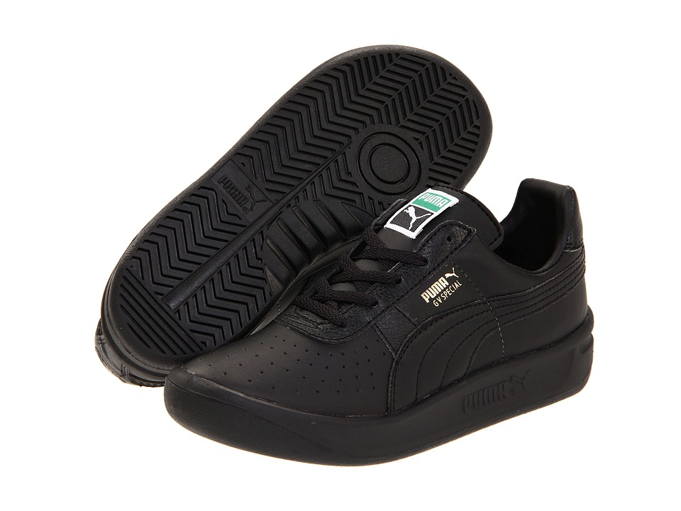 Puma Kids - GV Special Jr (Little Kid/Big Kid) (Black/Black/Metallic Gold) Kids Shoes