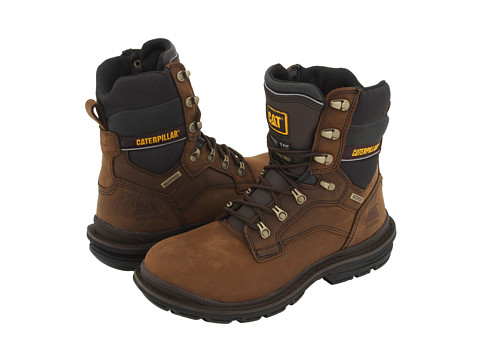 Caterpillar - Generator 8 Waterproof Steel Toe (Dark Brown) Men's Wide Shaft Boots