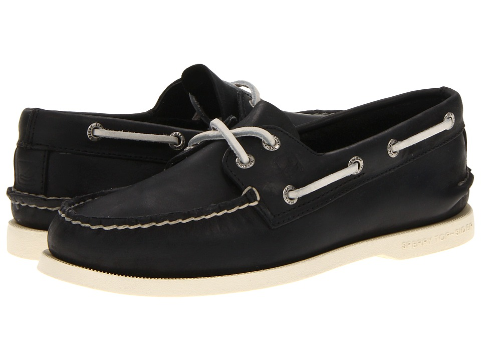Sperry Top-Sider - Authentic Original (Black/White) Men's Lace up casual Shoes