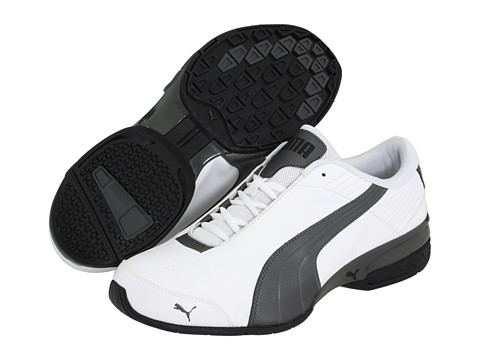 PUMA - Super Elevate (White/Pewter/Black) Men's Shoes