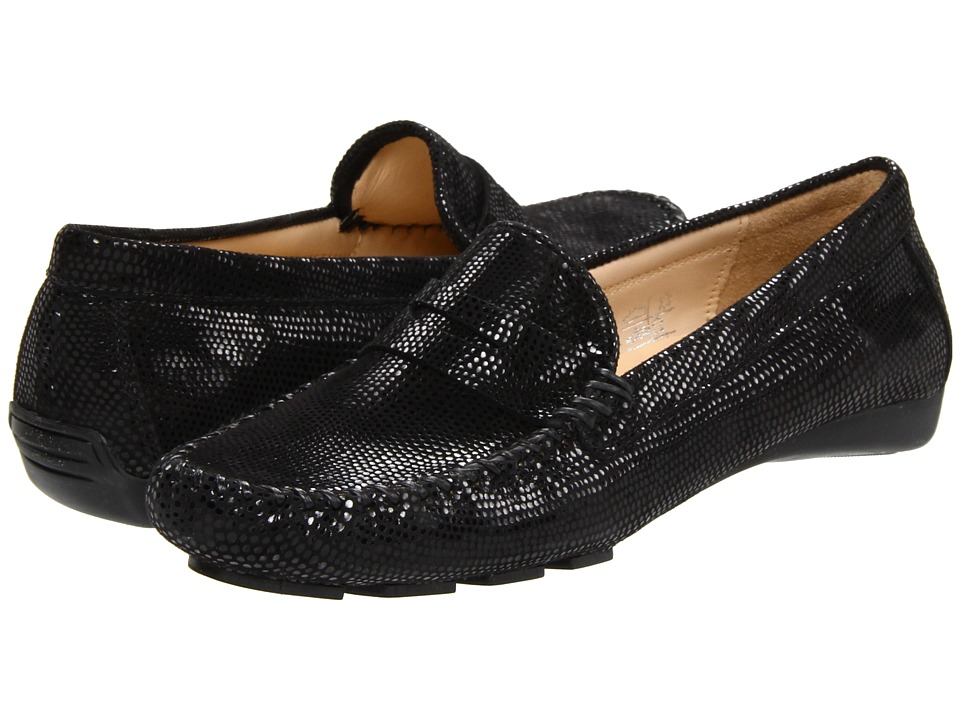 Vaneli - Ranon (Black Ecco Printed Leather) Women's Slip on Shoes