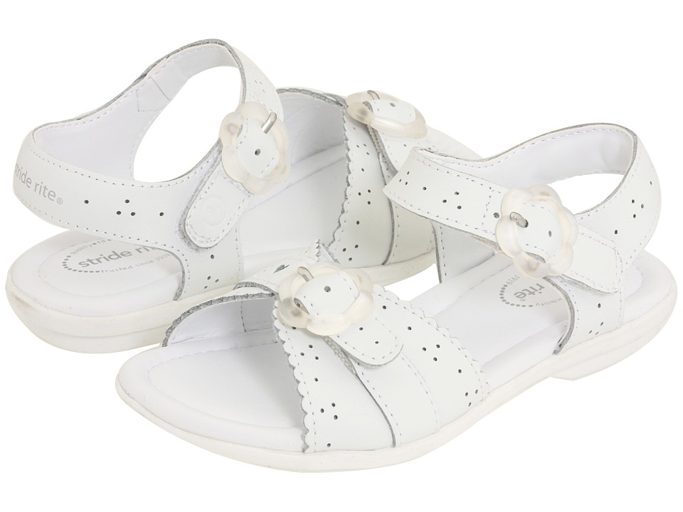 Stride Rite Butterscotch (Toddler) (White) Girl