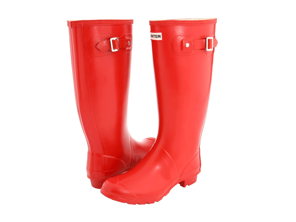 Hunter - Huntress Gloss (Pillar Box Red) Women's Rain Boots