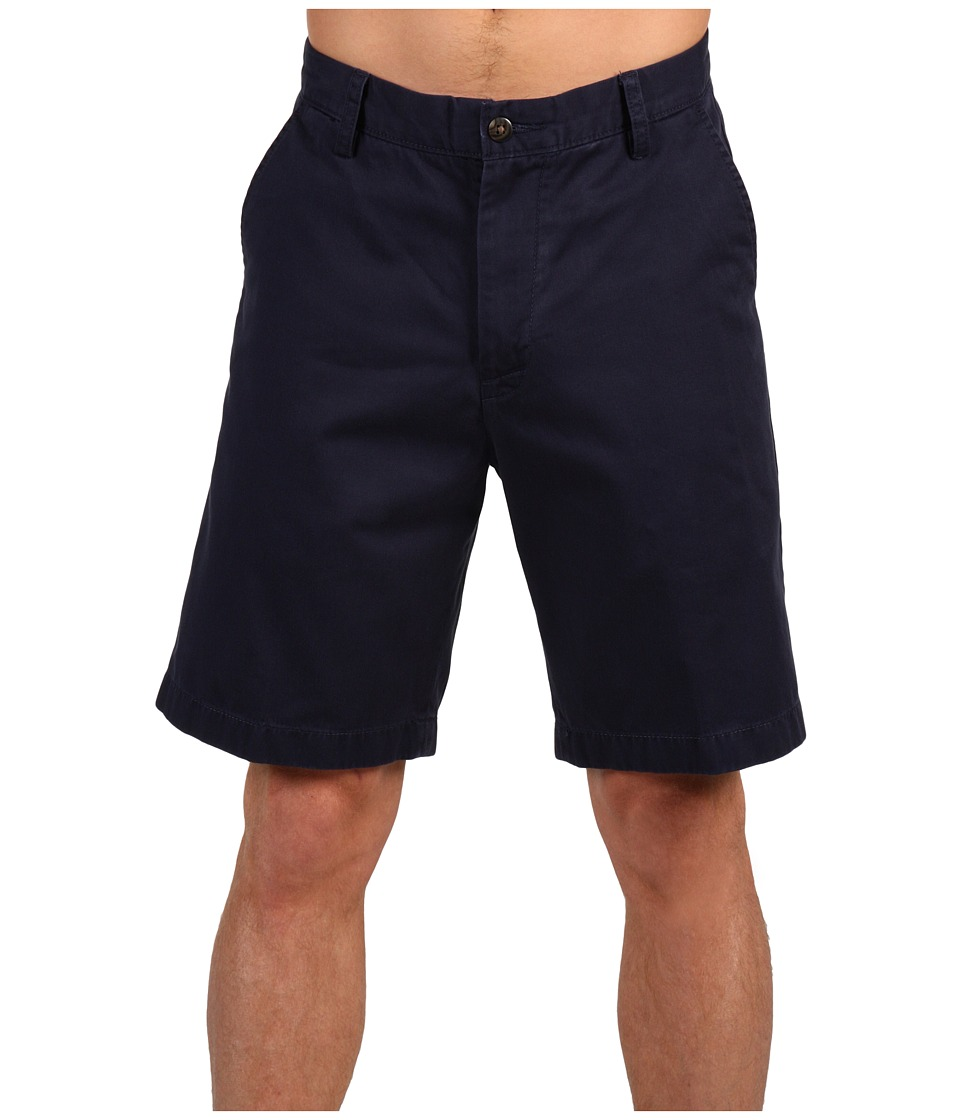 Nautica - True Khaki Flat Front Short (True Navy) Men's Shorts