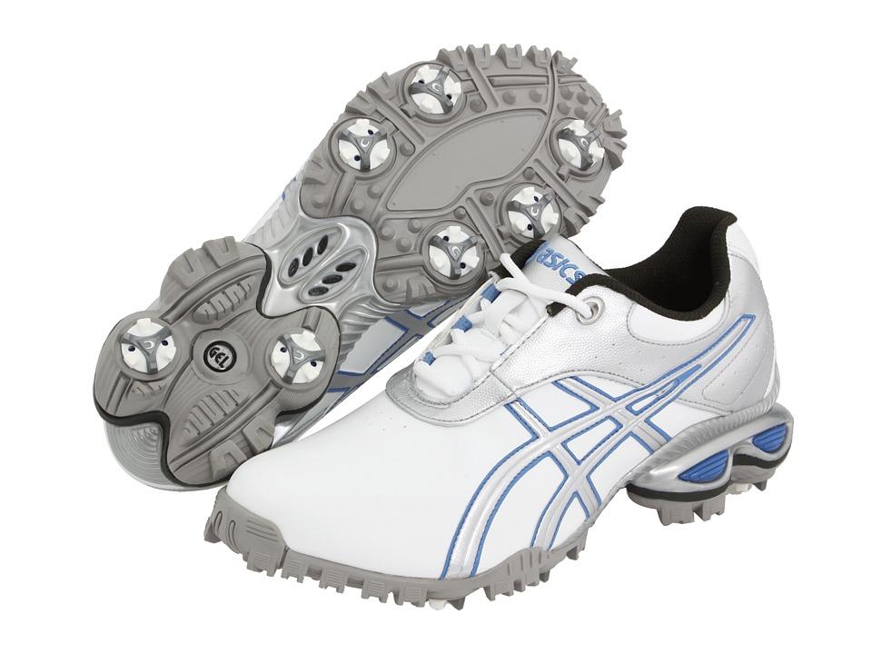 ASICS - GEL-Linksmastertm (White/Silver/Carolina Blue) Women's Golf Shoes