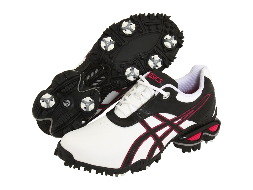 ASICS - GEL-Linksmaster (White/Raspberry/Gunmetal) Women's Golf Shoes