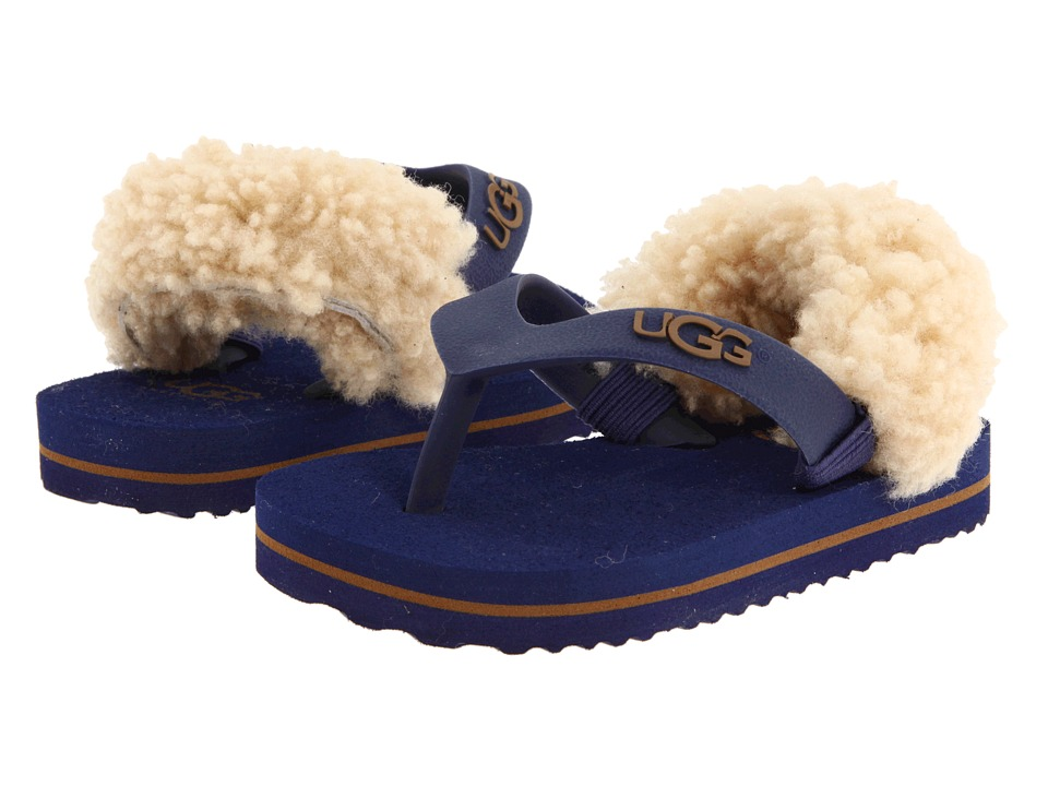 UGG Kids - Yia Yia (Infant/Toddler) (Medieval Blue/Chestnut) Boy's Shoes