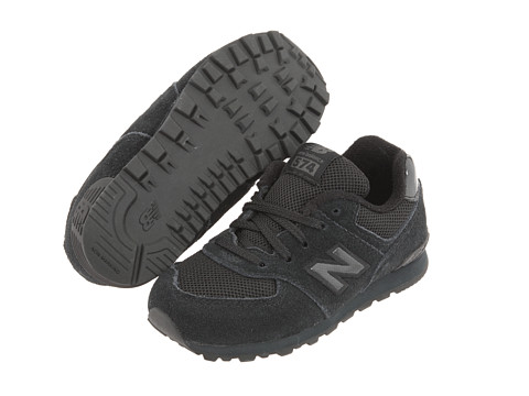 New Balance Kids - KL574 (Infant/Toddler) (Totally Black) Kids Shoes