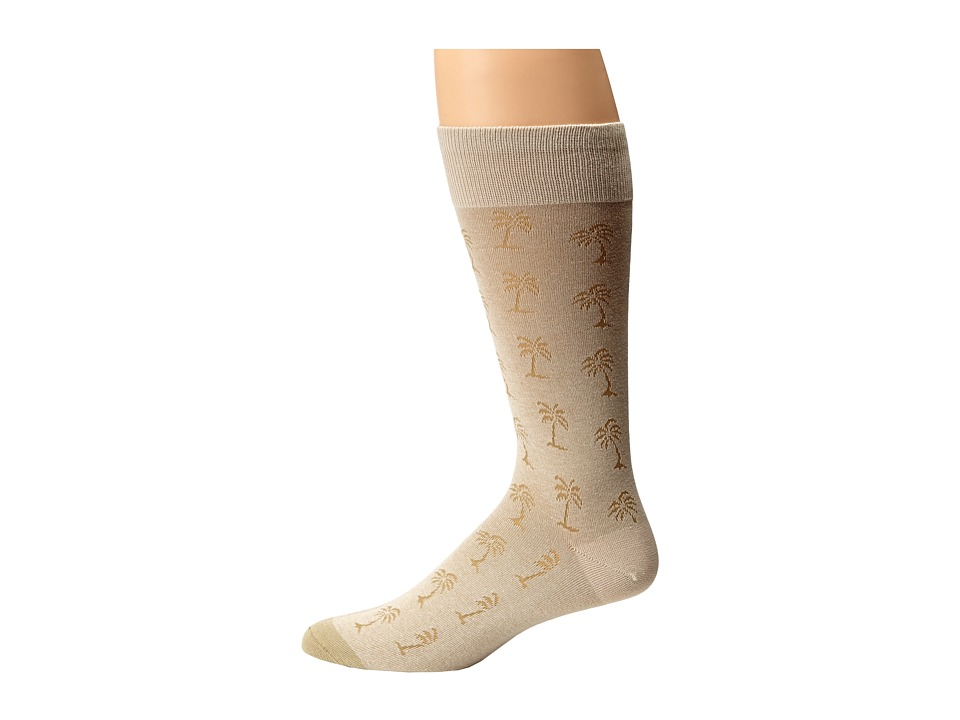 Tommy Bahama - Palm Logo Print Socks (Stone) Men