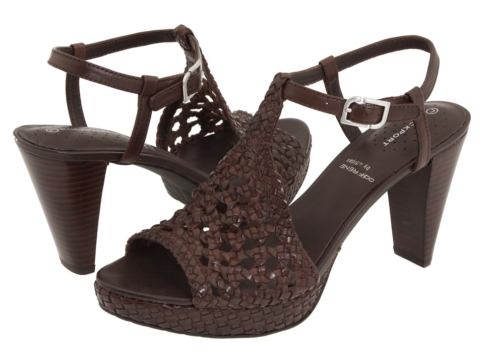 Rockport - Audry Quarter Strap Woven (Dark Brown Woven Leather) Women's Sandals