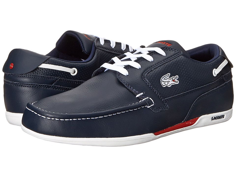 Lacoste - Dreyfus (Dark Blue/White) Men's Lace up casual Shoes