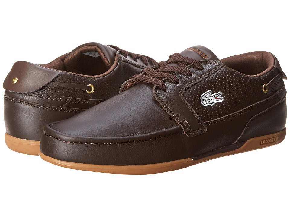 Lacoste - Dreyfus (Dark Brown) Men's Lace up casual Shoes