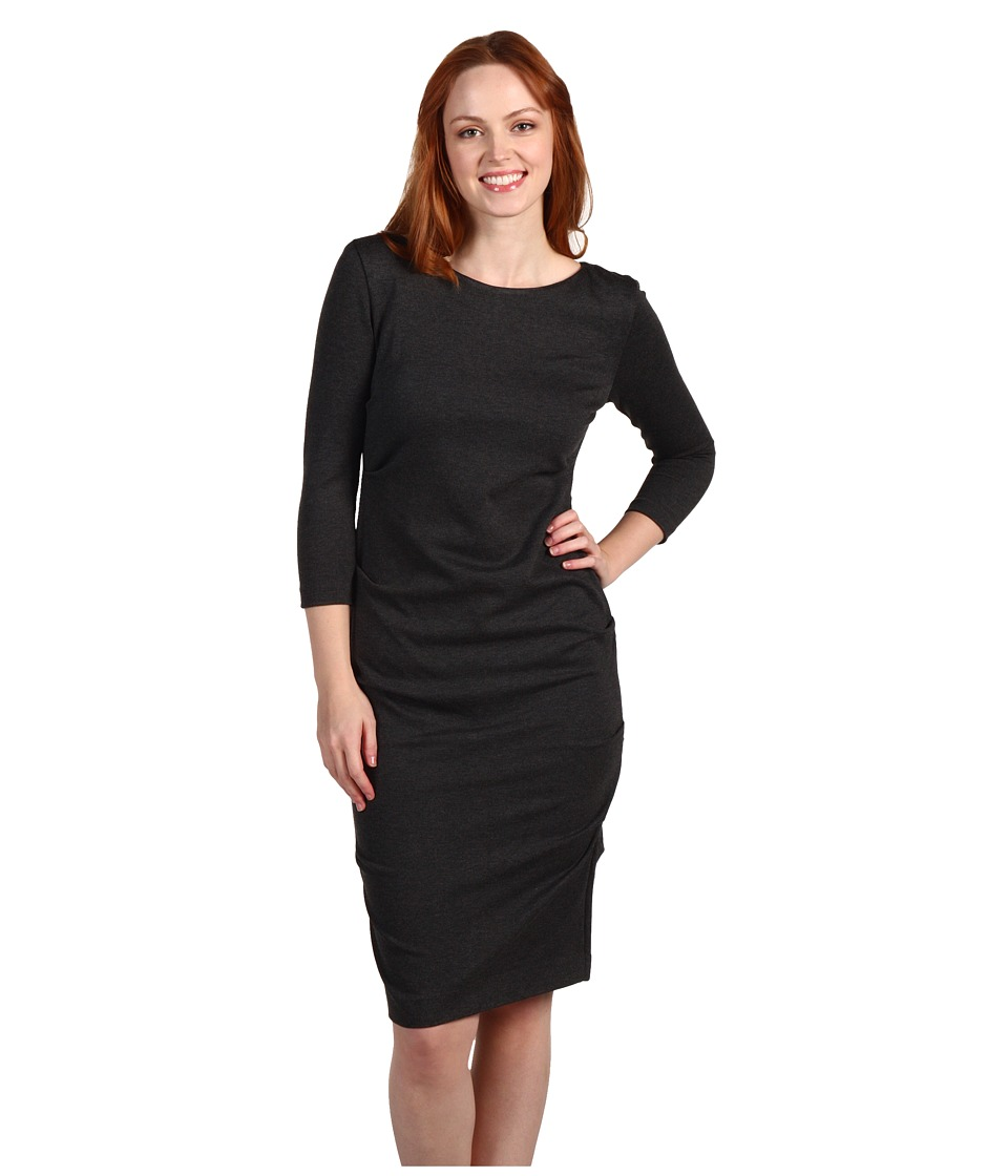 Nicole Miller Ponte Day Dress (Charcoal Heather) Women's Dress