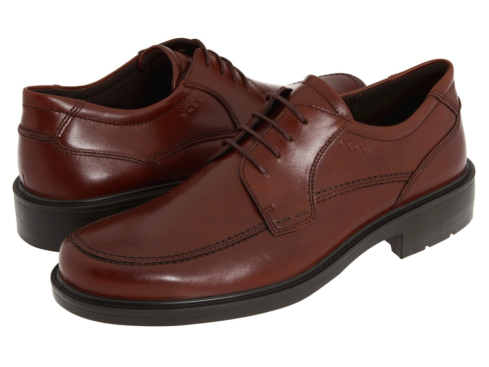 ECCO - Boston Apron Tie (Mink Full-Grain Leather) Men's Lace Up Moc Toe Shoes