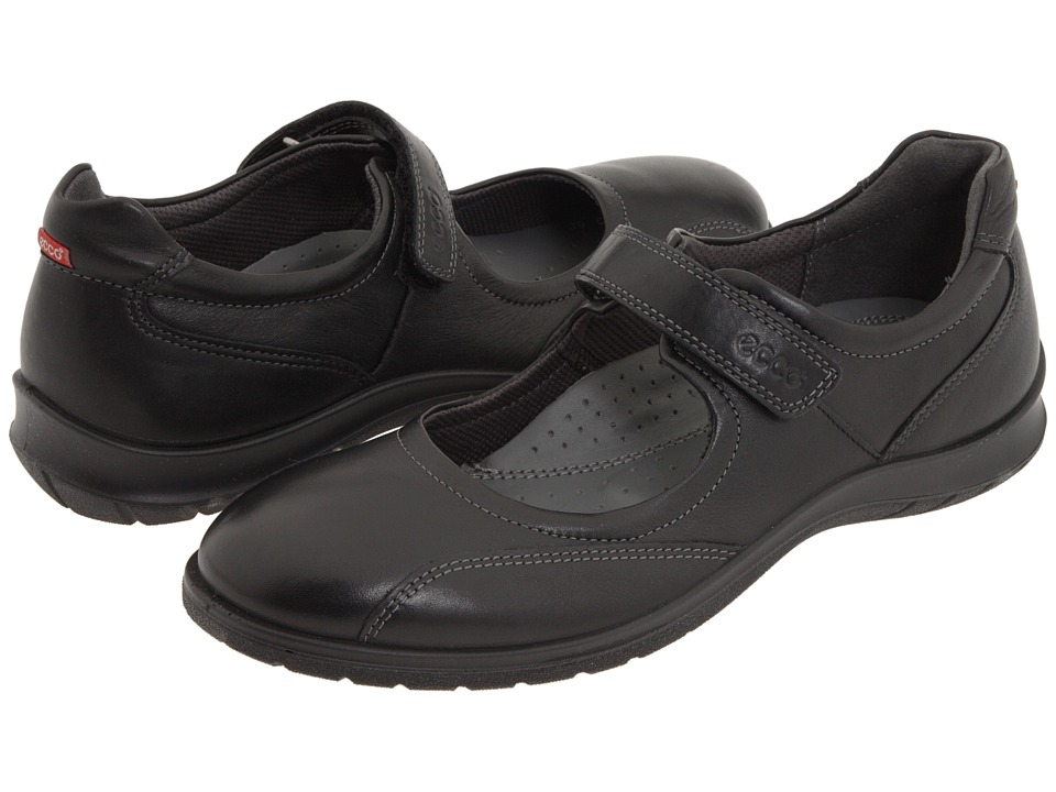ECCO - Sky Mary Jane (Black Leather) Women's Maryjane Shoes