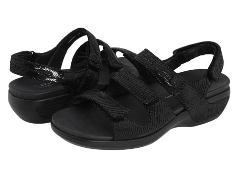 Aravon - Keri (Black Reptile) Women's Sandals