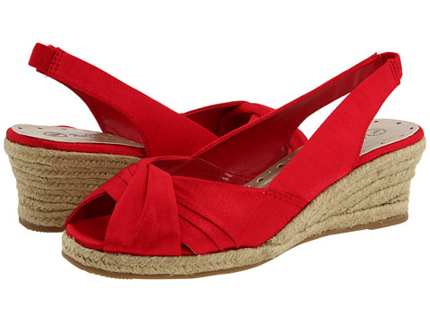 Bella-Vita Sangria (Red Silk) Women's Wedge Shoes