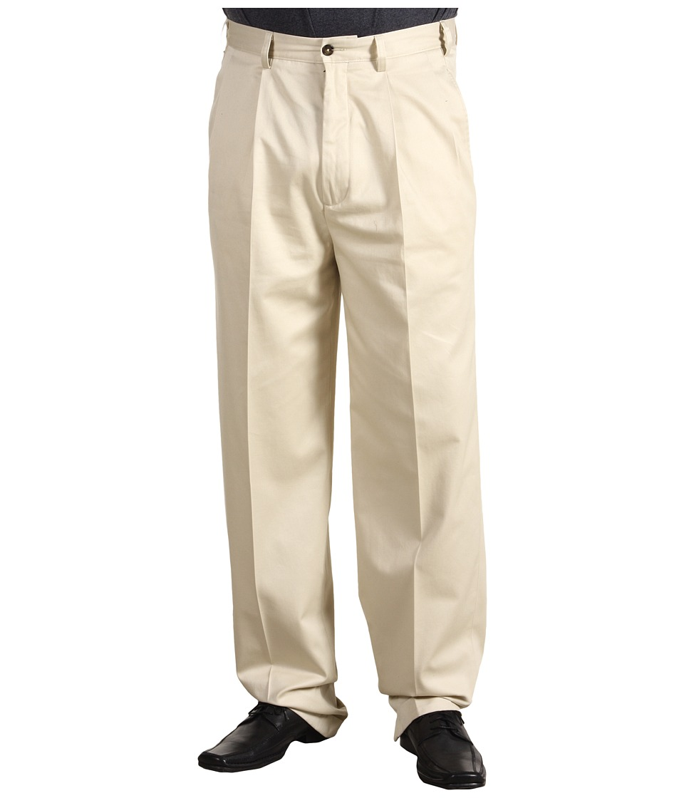 Nautica Big & Tall - Big Tall Wrinkle Resistant Double Pleat Pant (New Stone) Men