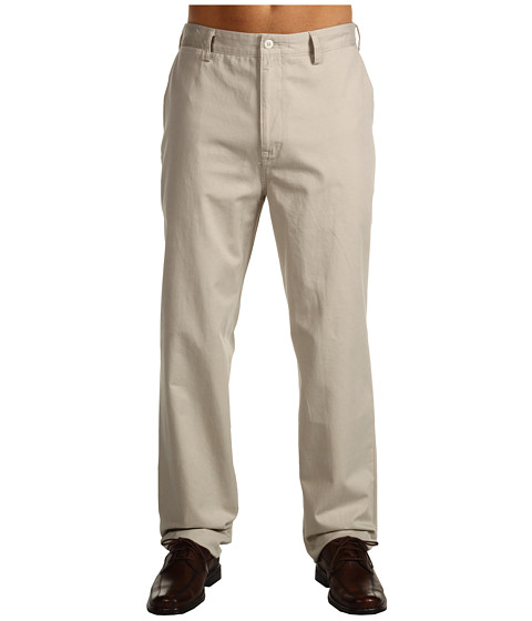 Nautica Big & Tall - Big Tall True Khaki Flat Front (True Stone) Men's Casual Pants