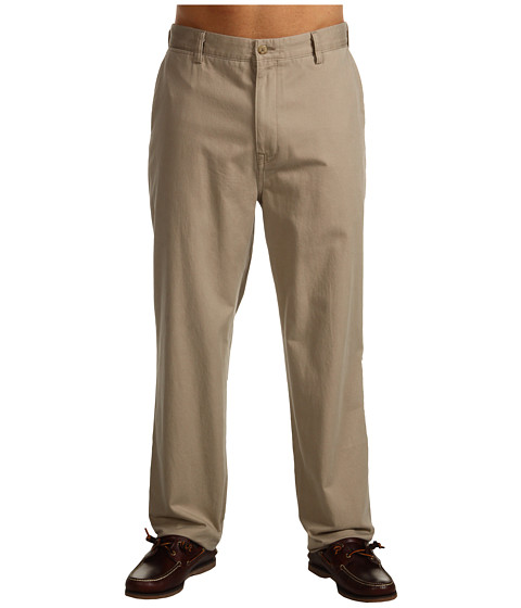 Nautica Big & Tall - Big Tall True Khaki Flat Front (True Khaki) Men's Casual Pants