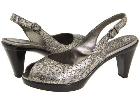 Bella-Vita - Wren II (Black Metallic Washed Snake) Women's Sling Back Shoes