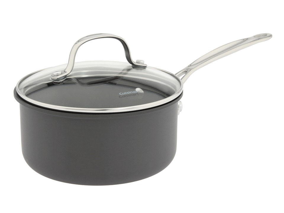 Cuisinart - Chef's Classic Non-Stick Hard Anodized 1.5 Qt. Saucepan (Black) Individual Pieces Cookware