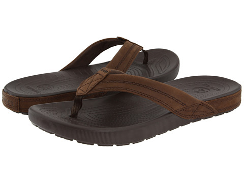 Crocs - Yukon Flip (Espresso/Espresso) Men's Sandals