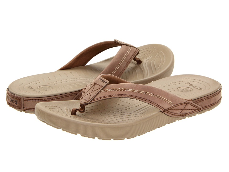 Crocs - Yukon Flip (Khaki/Coffee) Men