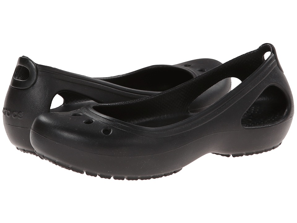Crocs - Kadee (Black/Black) Women's Slip on Shoes
