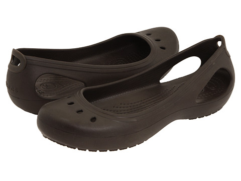 Crocs - Kadee (Espresso/Espresso) Women's Slip on Shoes
