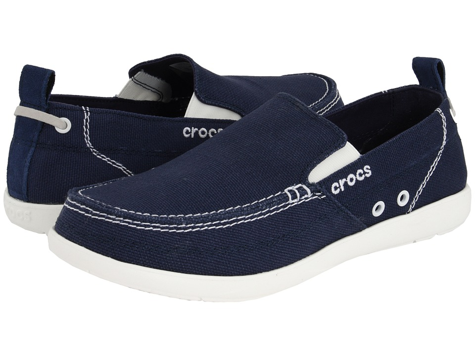Crocs - Walu (Navy/White) Men's Slip on Shoes