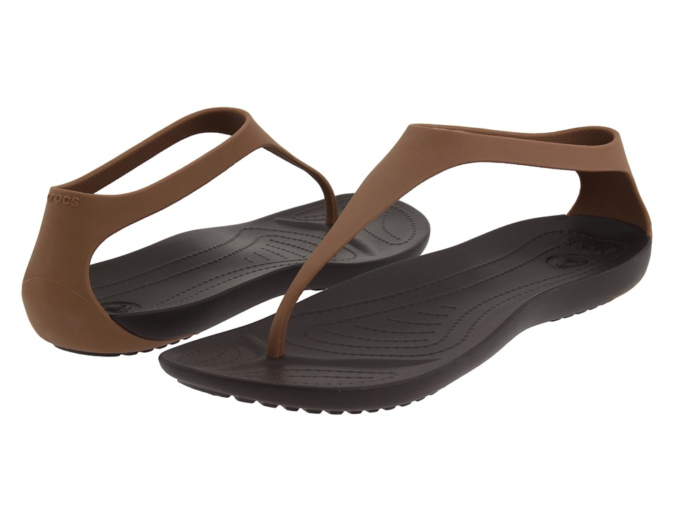 Crocs - Sexi Flip (Bronze/Espresso) Women's Sandals