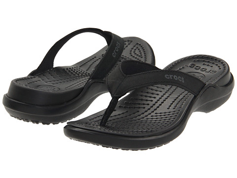 Crocs - Capri IV (Black/Black) Women's Sandals