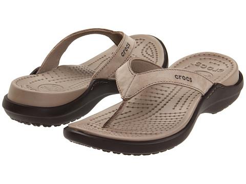 Crocs - Capri IV (Mushroom/Espresso) Women's Sandals