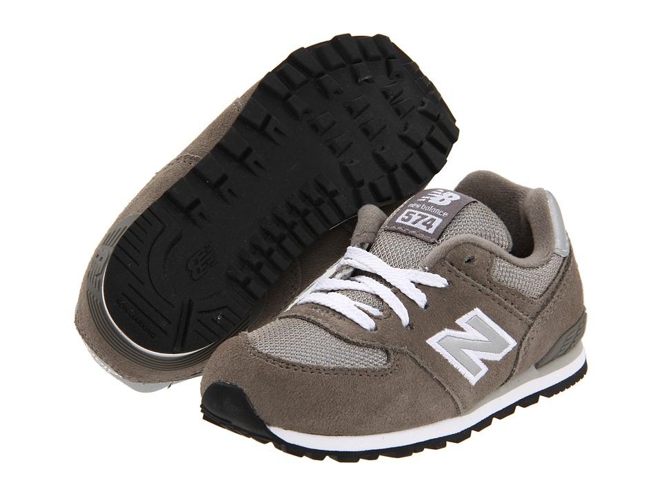 New Balance Kids KL574 (Infant/Toddler) (Grey) Kids Shoes