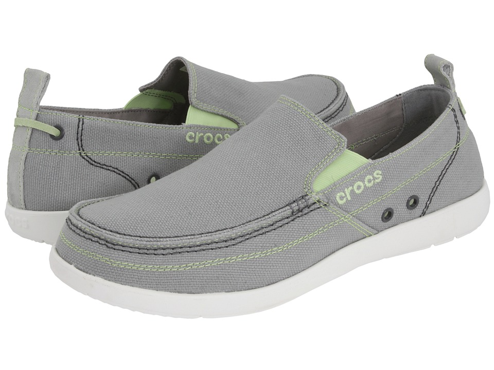 Crocs - Walu (Light Grey/White) Men's Slip on Shoes