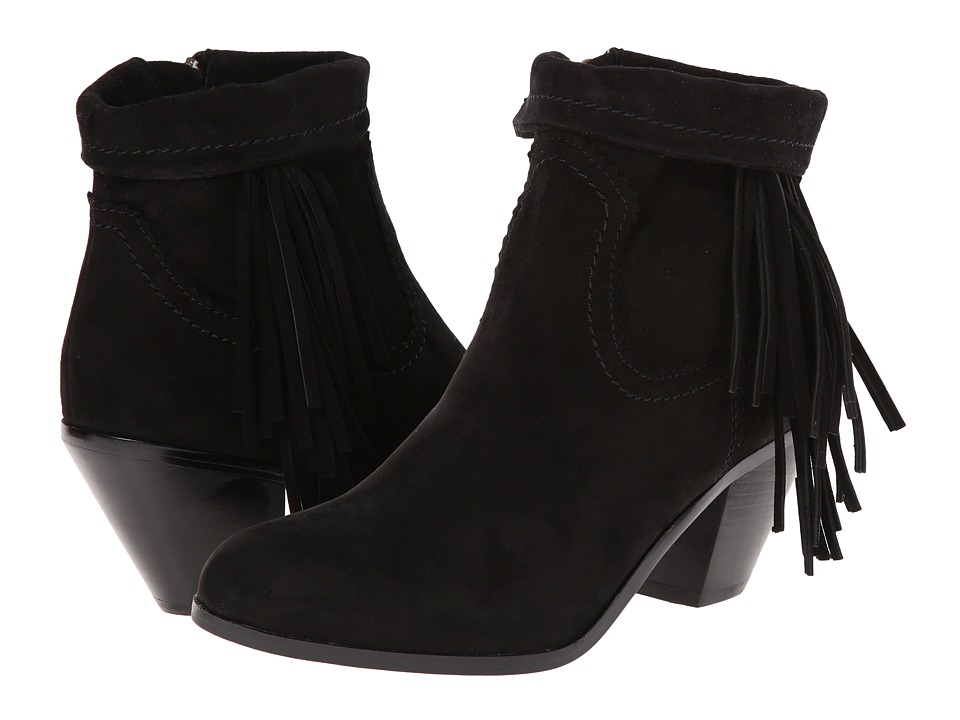 Sam Edelman - Louie (Black Suede) Women's Zip Boots