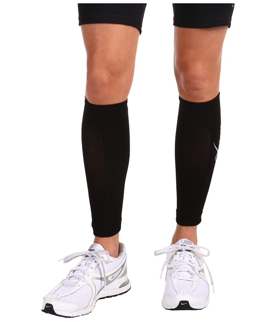 CW-X - Compression Calf Sleeves (Black) Athletic Sports Equipment