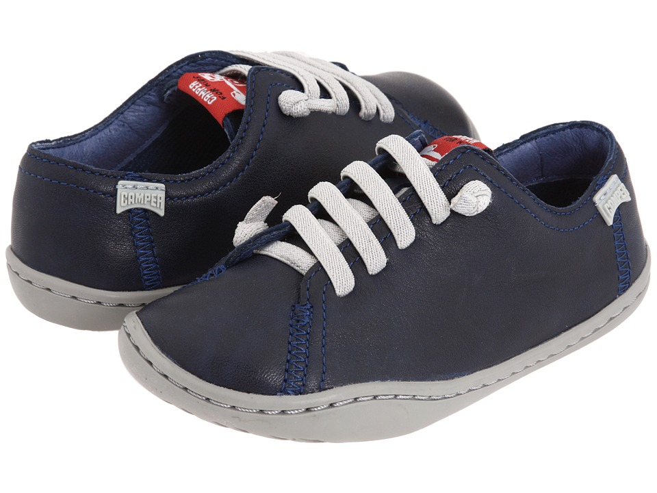 Camper Kids - Peu Cami 80003 (Toddler) (Navy Leather) Boys Shoes