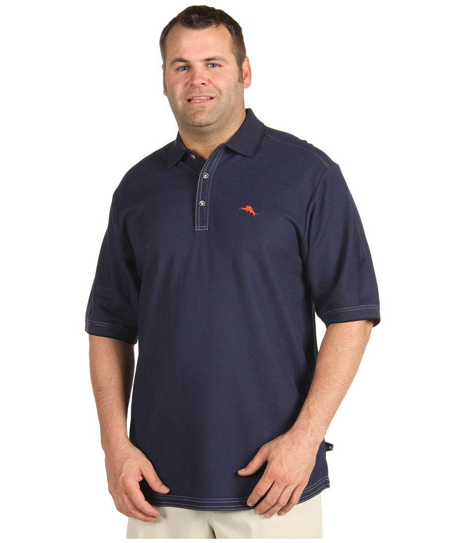 Tommy Bahama Big & Tall - Big Tall Emfielder Polo Shirt (Blue Note) Men's Short Sleeve Pullover