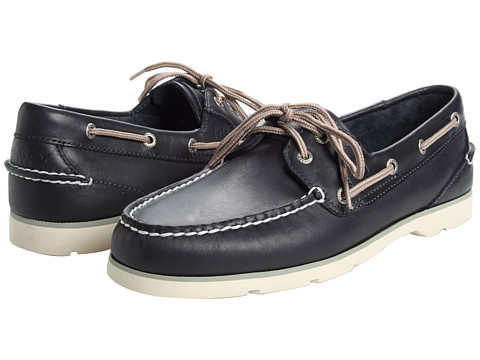 Sperry Top-Sider - Leeward 2 Eye (Navy) Men's Lace Up Moc Toe Shoes