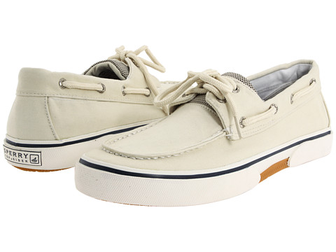 Sperry Top-Sider - Halyard 2-Eye (Ecru) Men's Lace Up Moc Toe Shoes