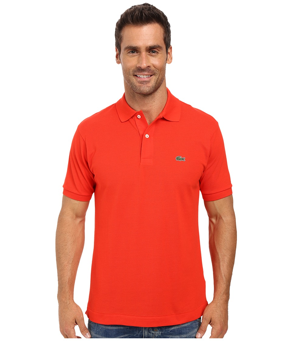 Lacoste - L1212 Classic Pique Polo Shirt (Redcurrant Bush) Men's Short Sleeve Knit