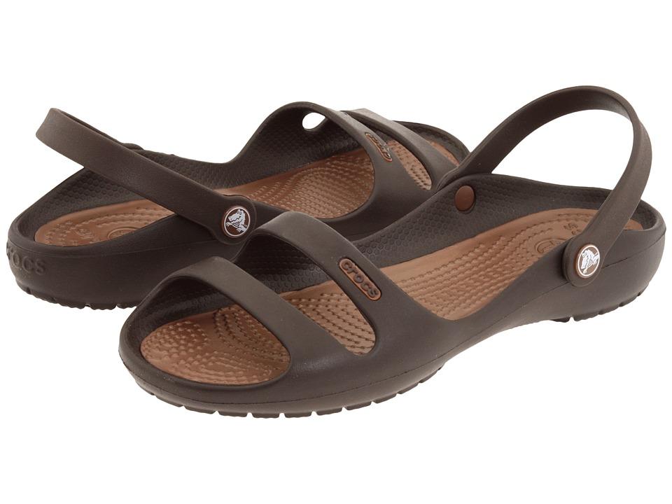 Crocs - Cleo 2 (Espresso/Bronze) Women's Sandals
