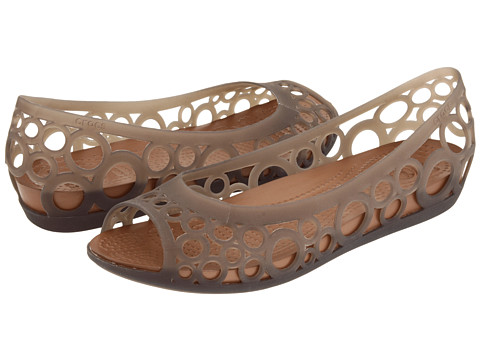 Crocs - Adrina Flat (Espresso/Bronze) Women's Flat Shoes