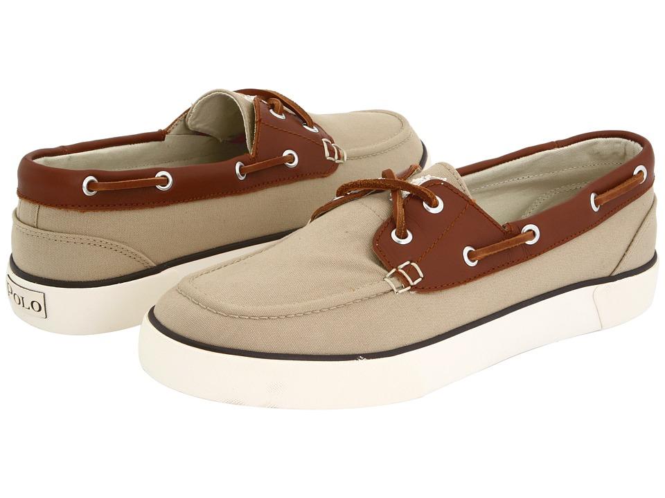 Polo Ralph Lauren - Rylander Canvas/Leather (Khaki/Tan/Cream) Men's Lace up casual Shoes