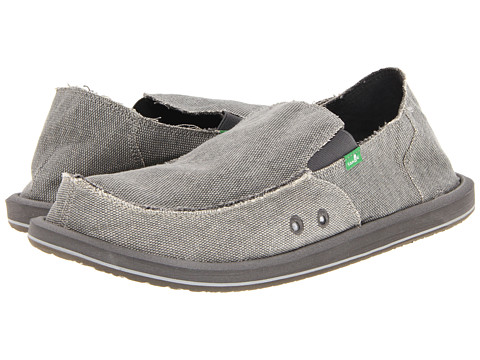 Sanuk - Vagabond Big Tall (Grey) Men's Slip on Shoes