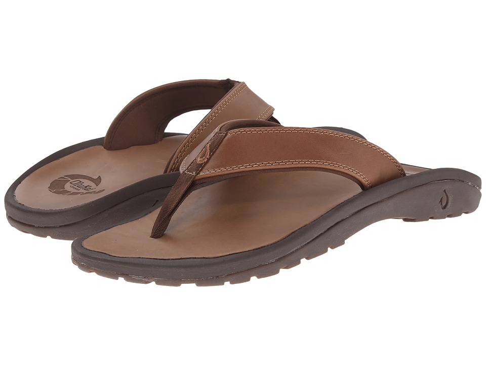 OluKai - Ohana Leather (Ginger/Ginger) Men's Sandals
